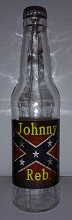 Johnny Reb Root Beer Bottle